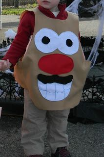 Diy Mr Mrs Potato Head Costumes Kids Version With Pattern