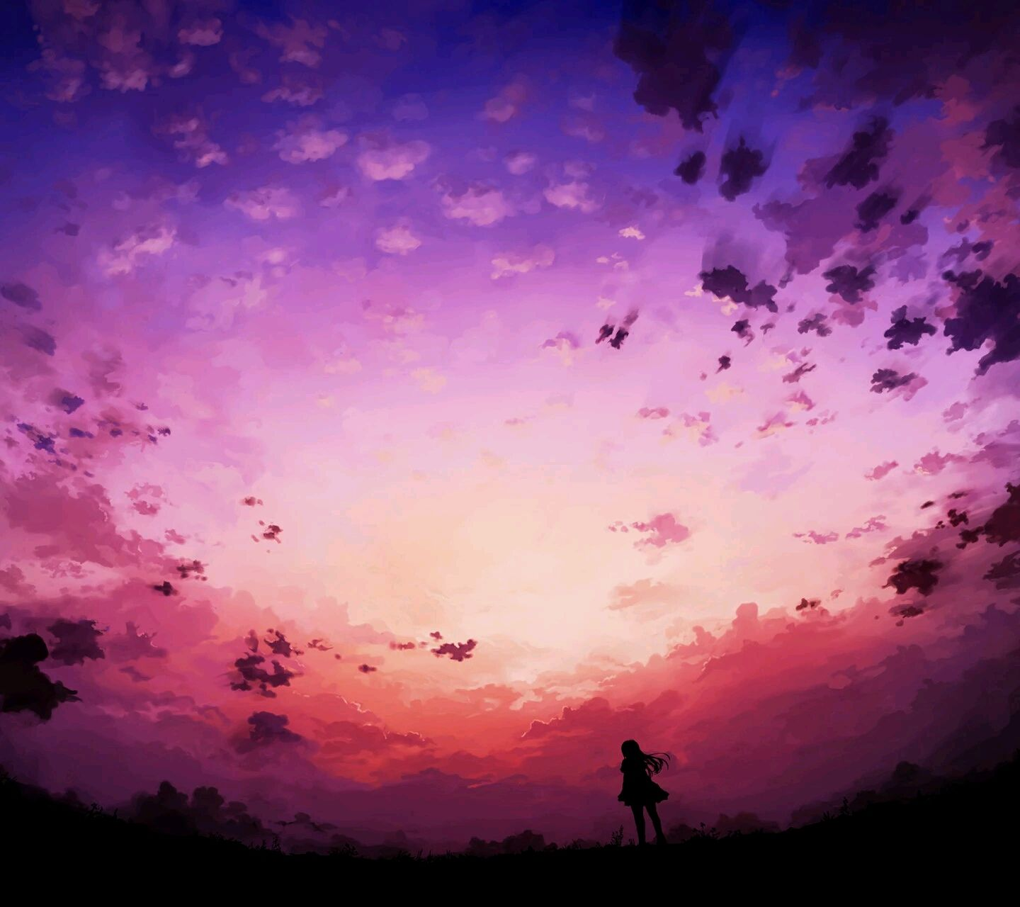 clouds;sky;wallpaper Anime scenery, Fantasy landscape