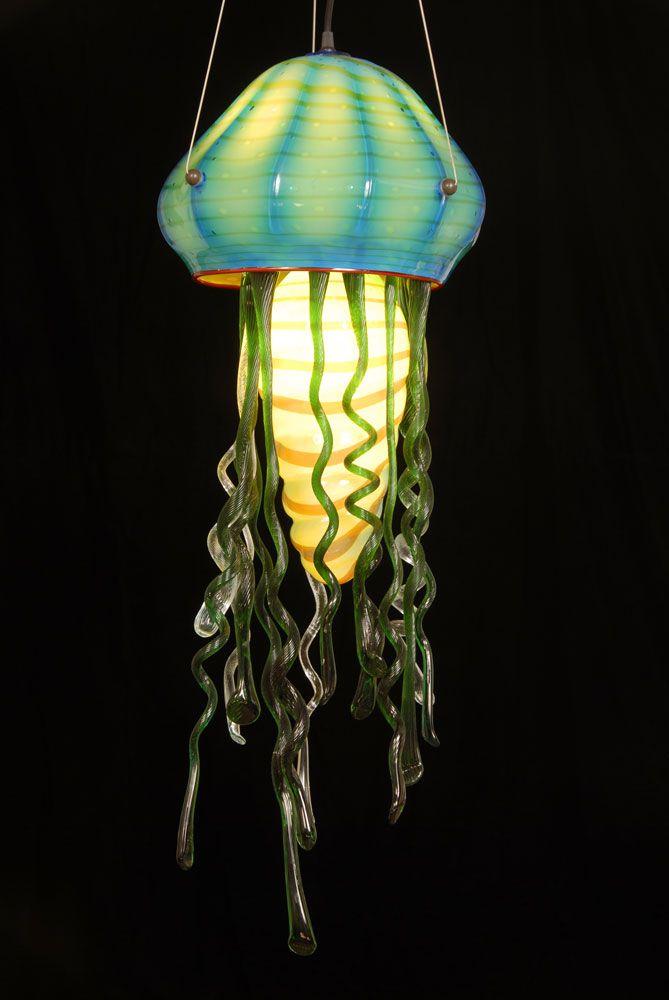 Fish Blown Glass Solar Garden Lights. Jellyfish Lamp!  Http://1Bpblogspotcom/ B Gm9368Kb8/te6Oyffueti