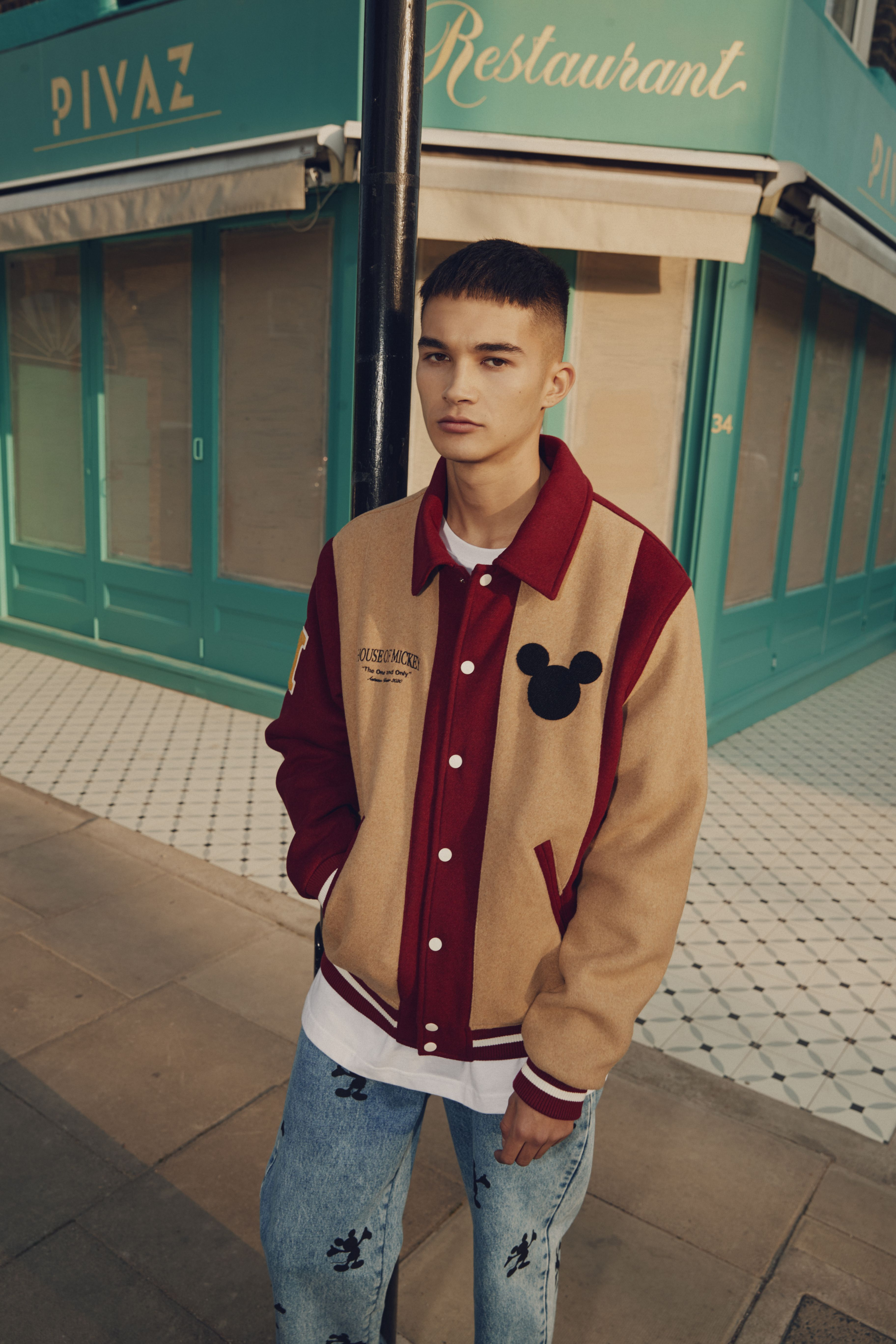 Bershka Mickey Mouse Bershka Bershkastyle Mickeymouse Mickey Disney New In Newin Trend Trendy Cool Fashion Ou Varsity Jacket Street Wear Fashion