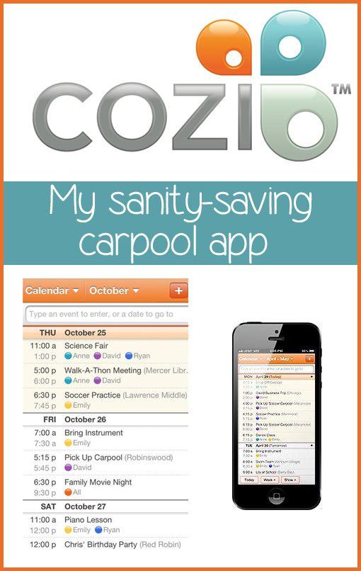 Shared Calendar Carpool App App, Family organizer