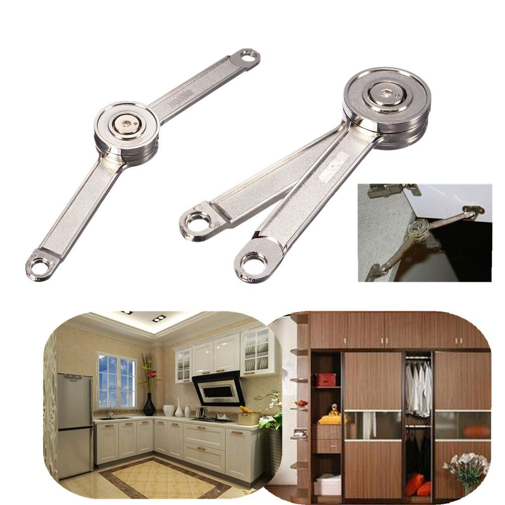 Heavy Duty Door Restrictor Hold Open Arm Stay Cupboard Cabinet Wardrobe Support Box Hinges Kitchen Cupboards Cabinet Doors