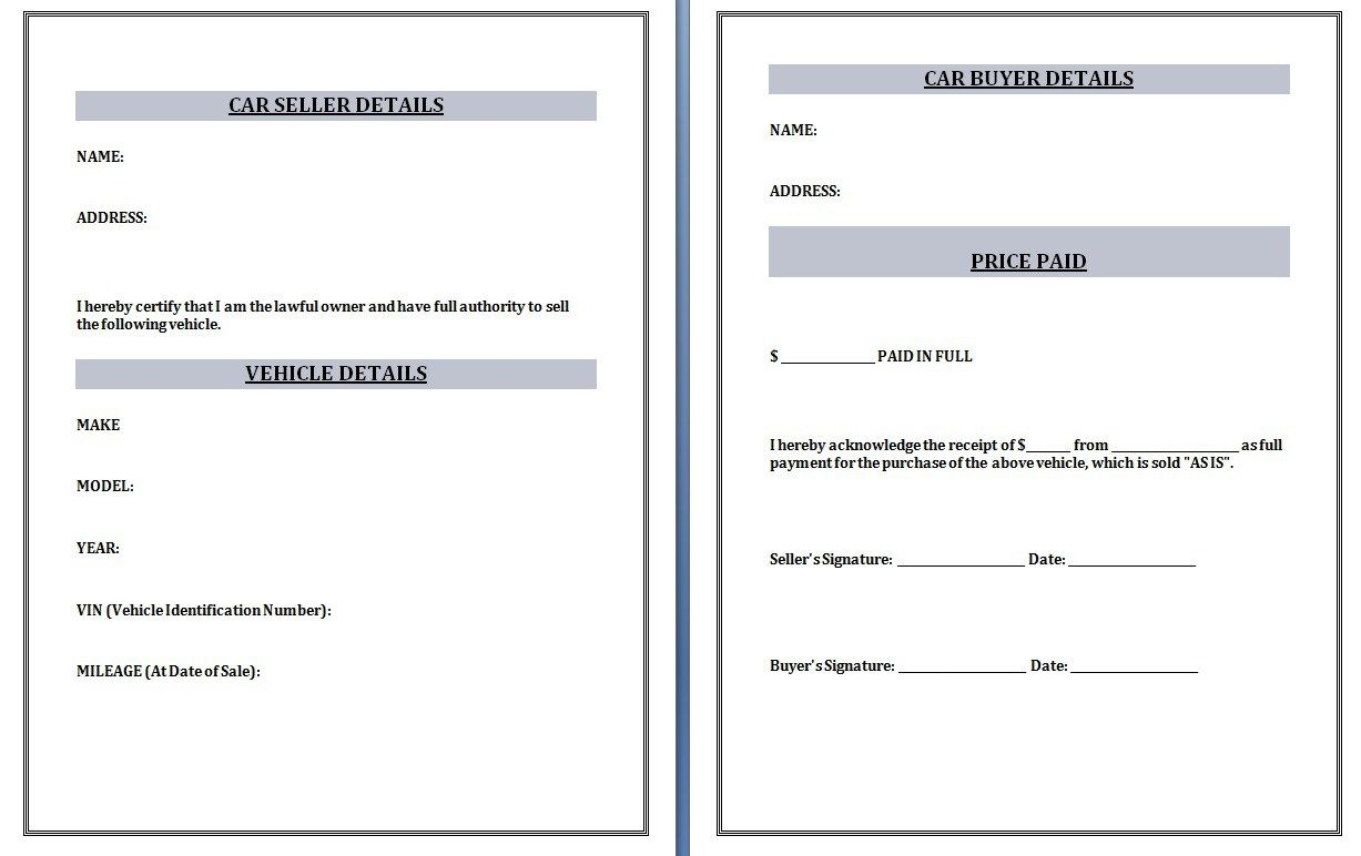 Cheque Receipt Template Car Receipt Templates Are Of Great Importance As They Show Financial .