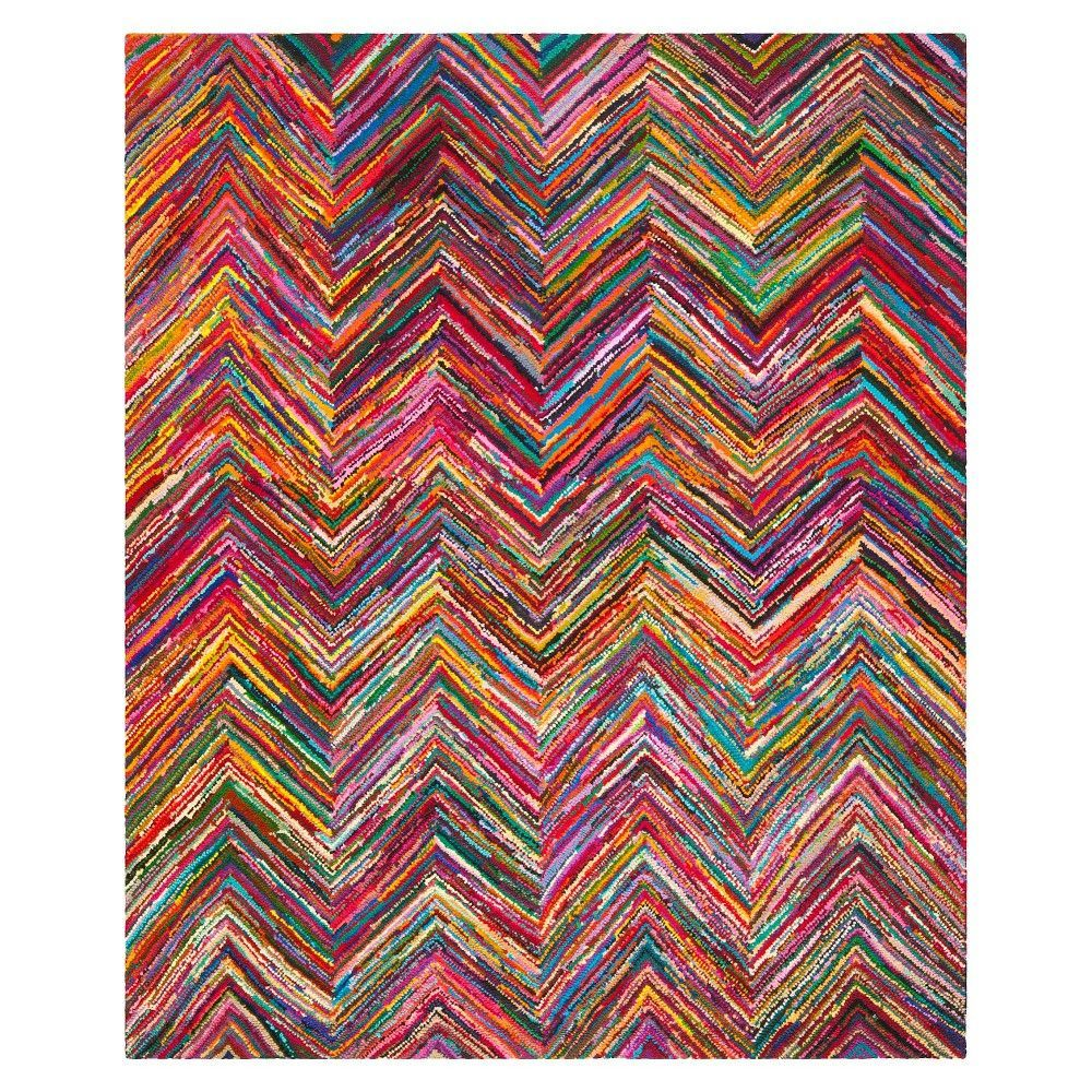 Safavieh Morgan Runner Pink Multi 2 3x11 Colored Chevron Area Rugsnantucket