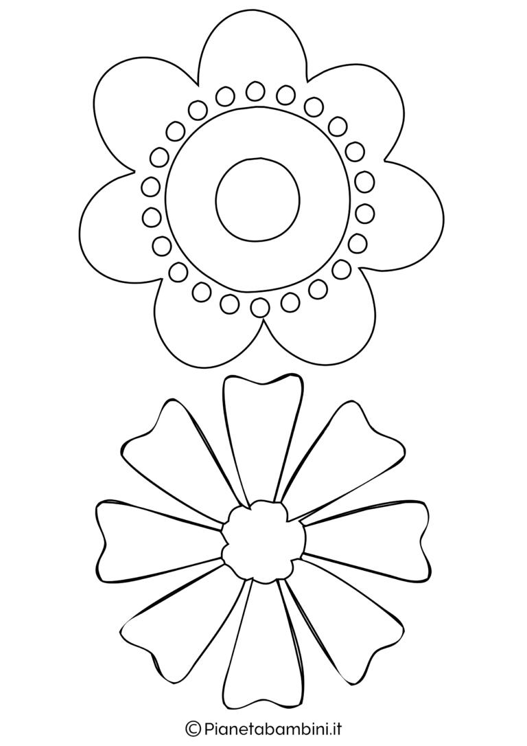 81 sagome di fiori da colorare e ritagliare per bambini for Fiori grandi da colorare