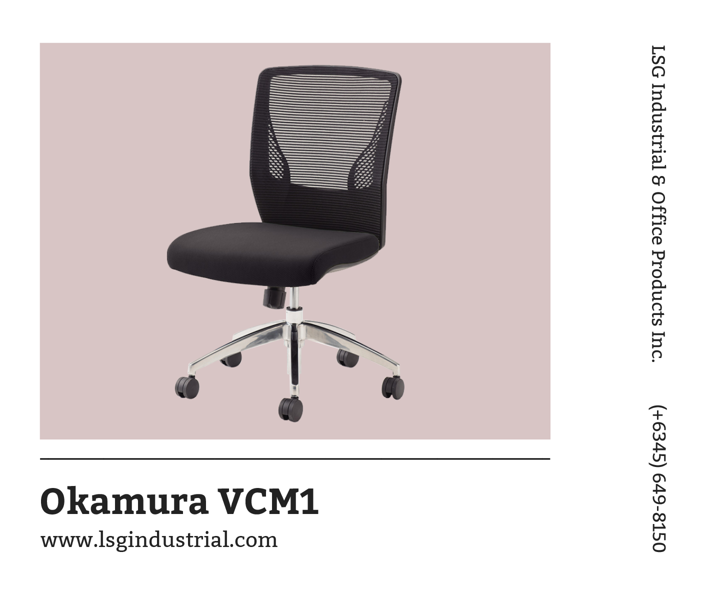 Work Comfortably In Your Office Using This Ergonomic Chair From Okamura Vcm1 Boasts A Mesh Back With Wing Back Support S Ergonomic Chair Office Chair Chair
