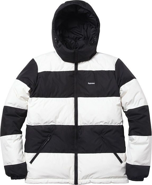 71ced860f Supreme Reversible Striped Down Jacket