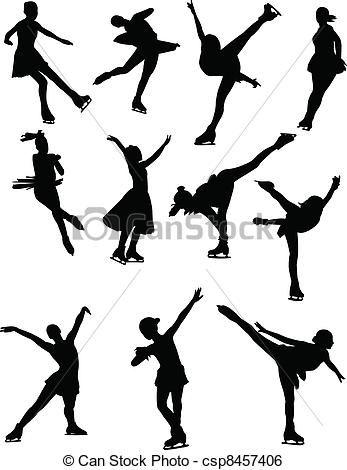 Ice Skating Clip Art Stock Clip Art Icon Stock Clipart Icons Logo Line Art Skate Art Ice Skating Illustration