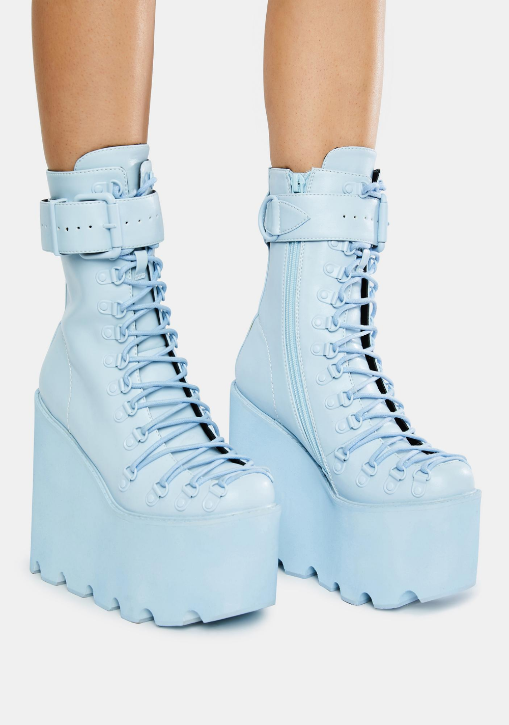 Details about  /Multi Color Platform Leather High Block Heels Fashion Ankle Boots Womens Shoes
