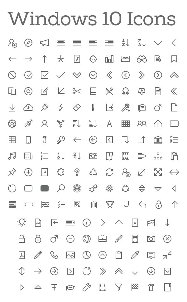 free icons download for windows 10