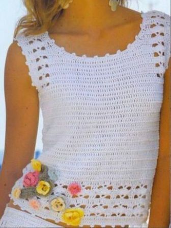 Pin By Glenda Pacay On Camisetas Ganchillo Crochet Ladies Tops Crochet Clothes Sweater Crochet Pattern