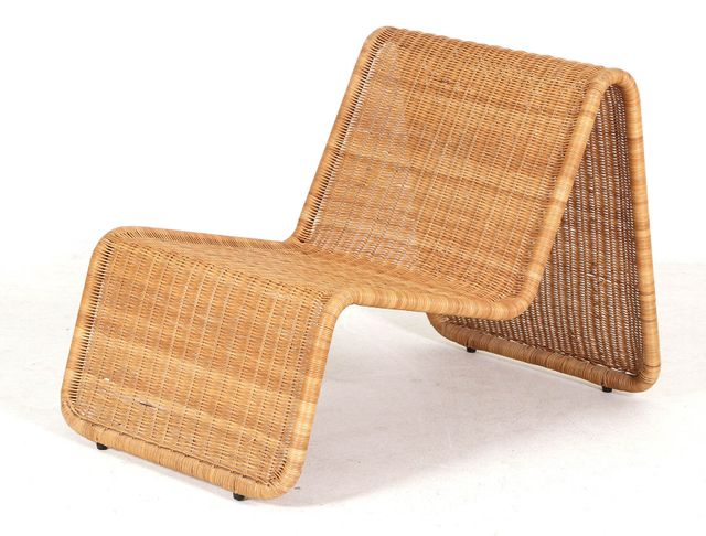 Italian Rattan P3 Chaise Lounge By Tito Agnoli For Pierantonio