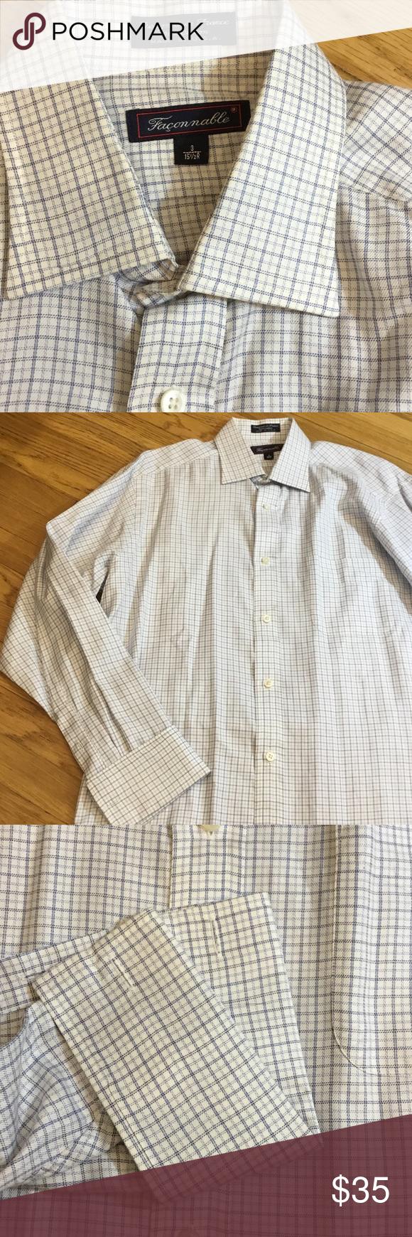 c2bd8ab9aae297 Faconnable mens shirt 15 1 2 r france   Faconnable shirt, Dress ...