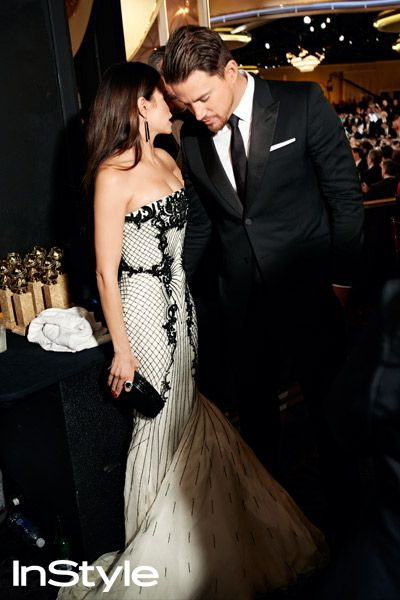 Photographer Art Streiber's Exclusive Photos From Backstage at the 2014 Golden Globes - Channing and Jenna DeWan Tatum from #InStyle