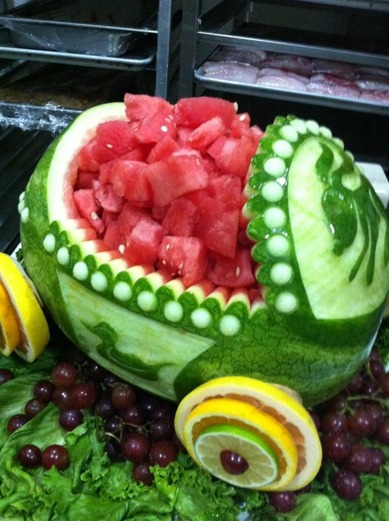 Watermelon Carriage For Baby Shower