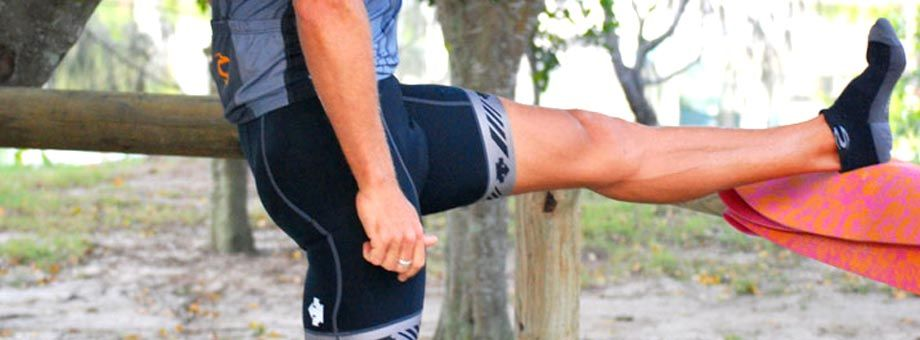 Hamstrings: This is a hamstring stretch but will also involve the upper calf and you may feel some stretch into the hips / glutes.