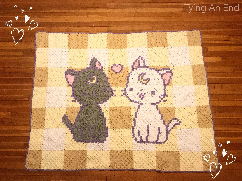 Luna and Artemis C2C Blanket | crochet and knit patterns | Pinterest