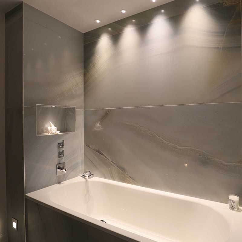 Waterspring-LED-downlight-in-bathroom.jpg | Chandler Bathroom ...