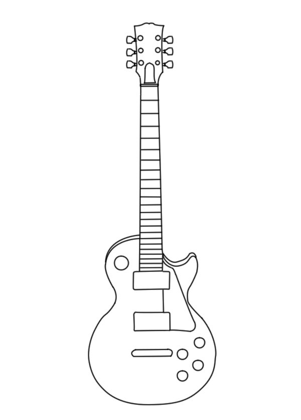 Les Paul Vector Outline +WiP+ by suicidalmofo.deviantart