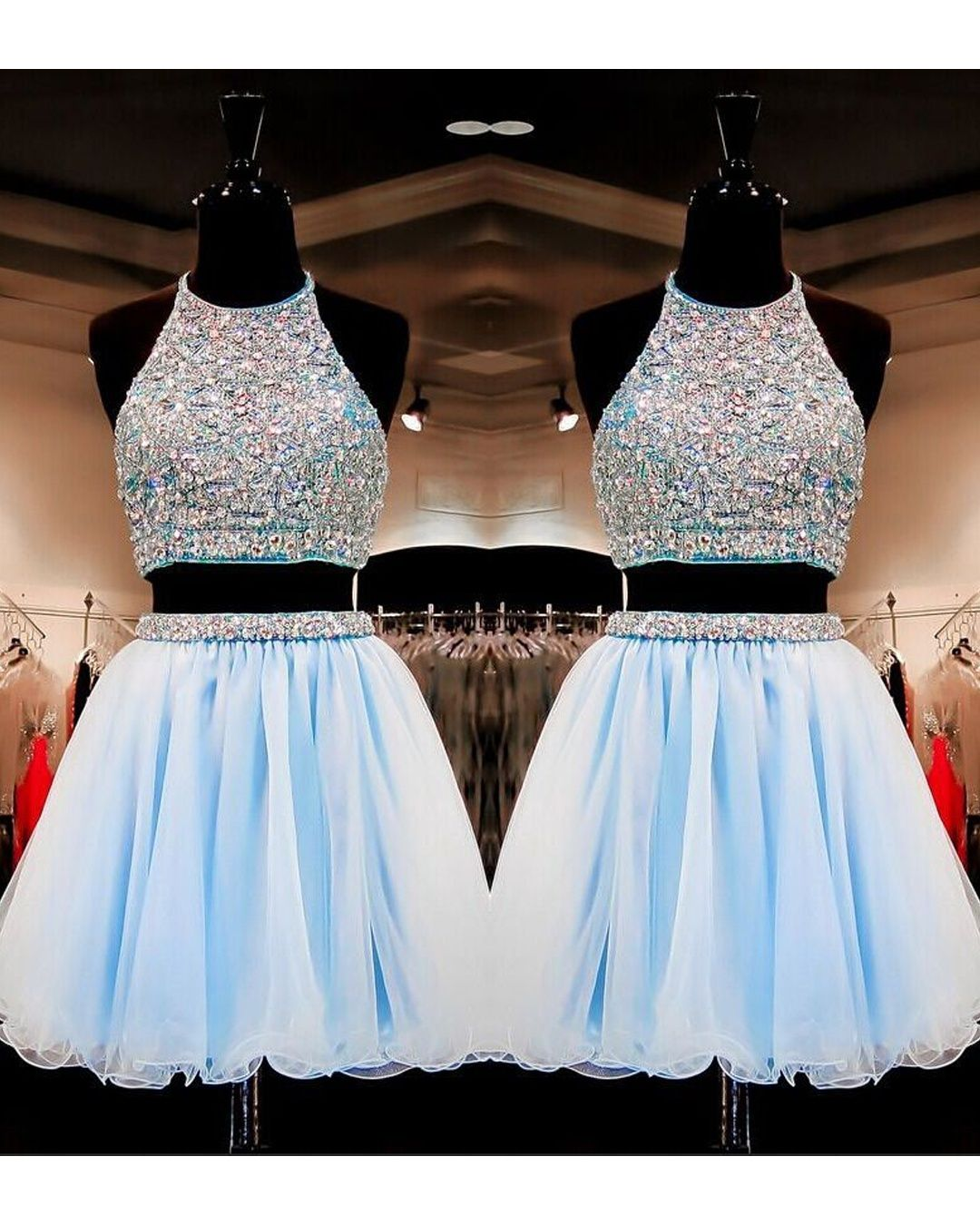Sweet 16 Gowns Light Sky Blue Tulle Short Homecoming Dresses Dress 2 Pieces With Beading Hc0036 Homecoming Dresses Short Sweet Sixteen Dresses Sweet 16 Dresses Short [ 1350 x 1080 Pixel ]