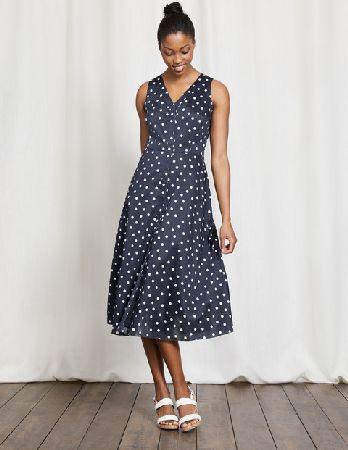 Boden Josephine Dress Navy Polka Dot Women Boden Navy Get Ready To