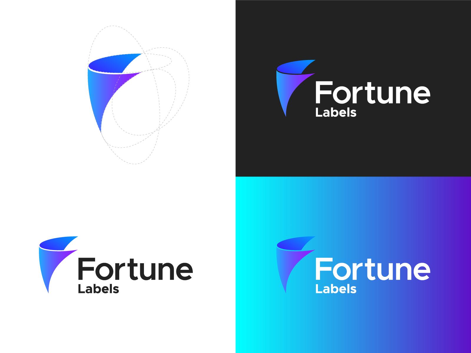 F Logo Fortune Labels Logo Proposal Labels Proposal Fortune