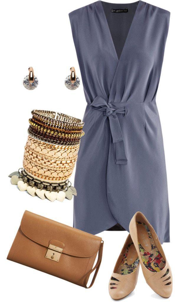 """cloudy blue and brown"" by raylin ❤ liked on Polyvore"