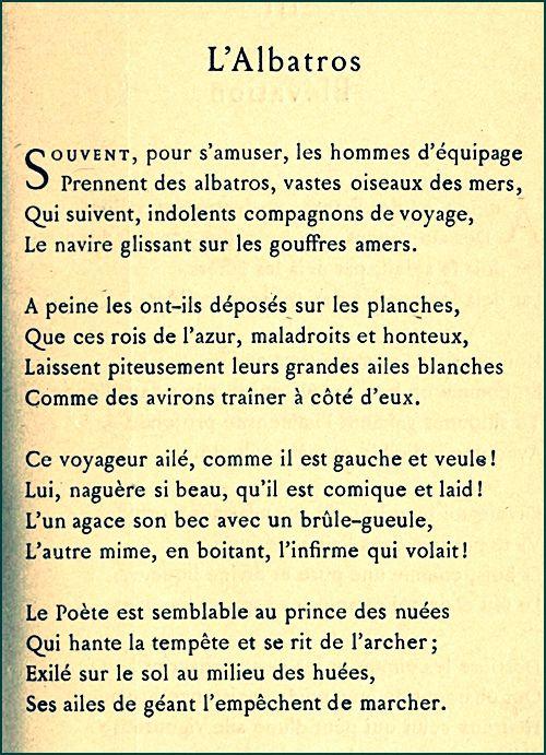 Baudelaire - L'Albatros | Poesia, Citazioni, Poeta