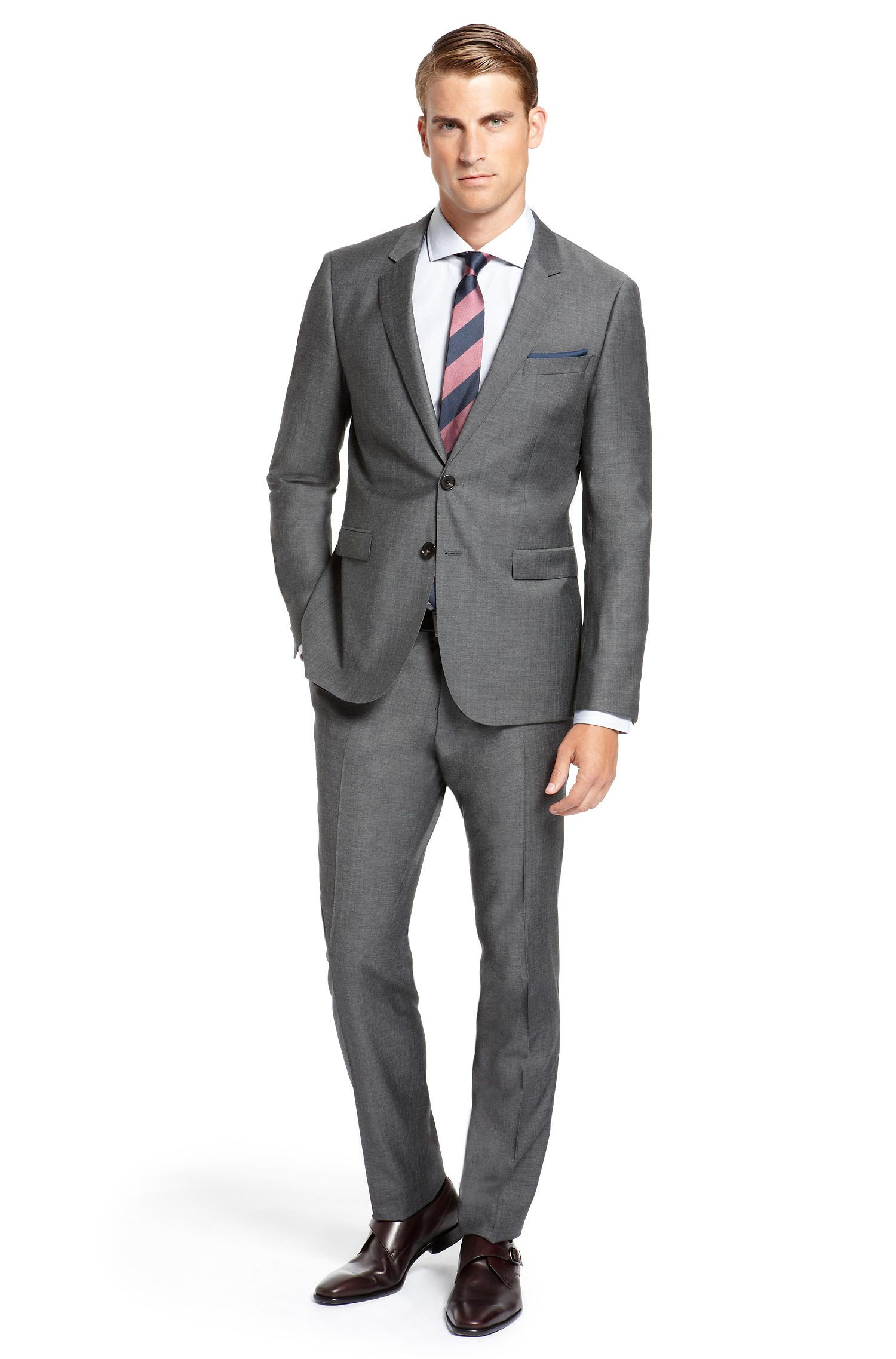 "Tie Manifesto Look 1 - Windsor Knot: Grey ""Prince of Wales"" suit"