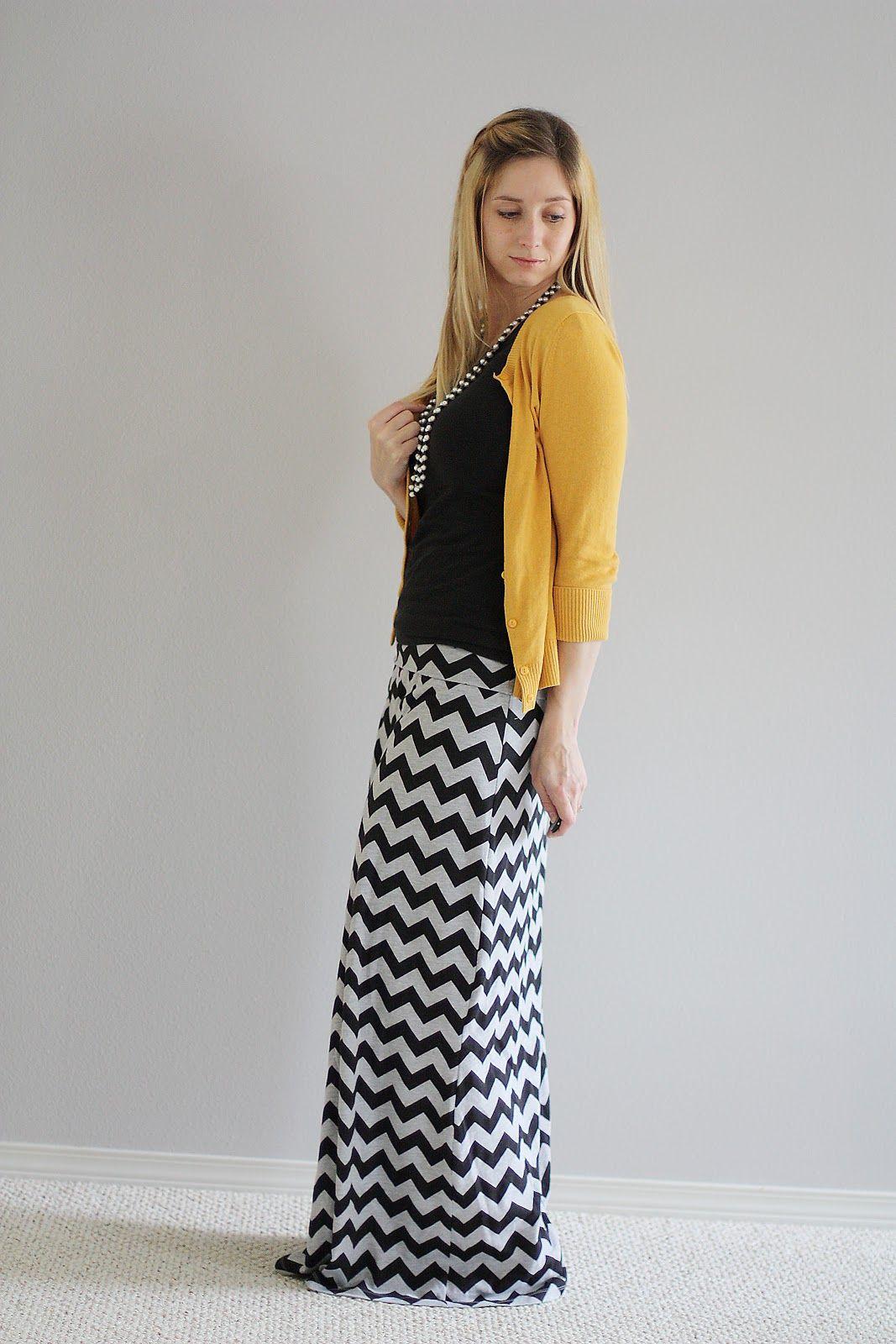 Comfy Chevron Maxi Skirt // Sew Much Ado - love love love this look ...