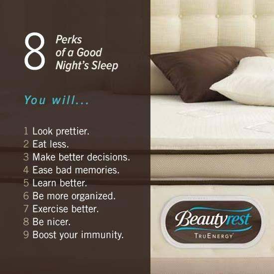 8 perks of a good night sleep!