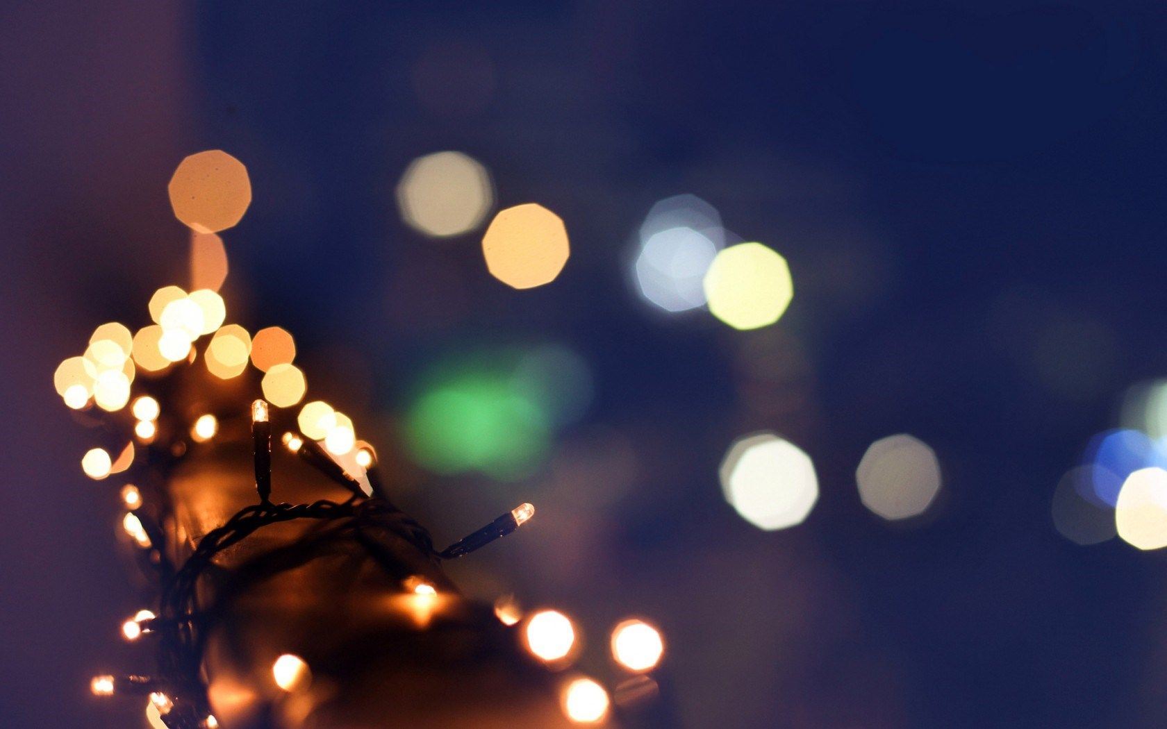 Christmas Garland Lights Winter Bokeh Blur Macro HD