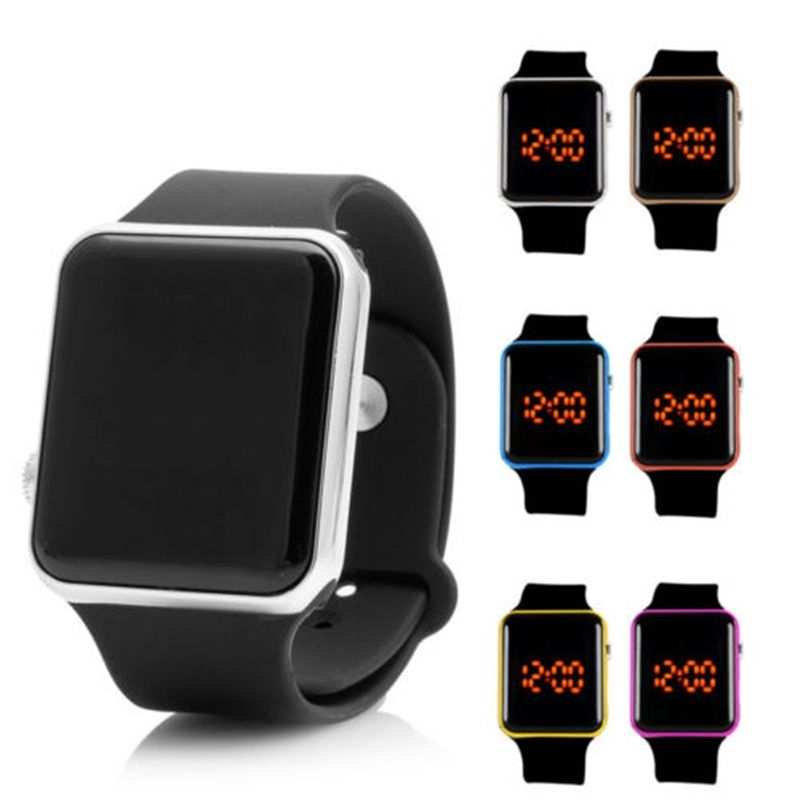 Gentle Boy Girl Wrist Watch Simple Thin Sports Silicone Digital Bracelet Led Watches Fitness Watch For Children Sport Watches Watches