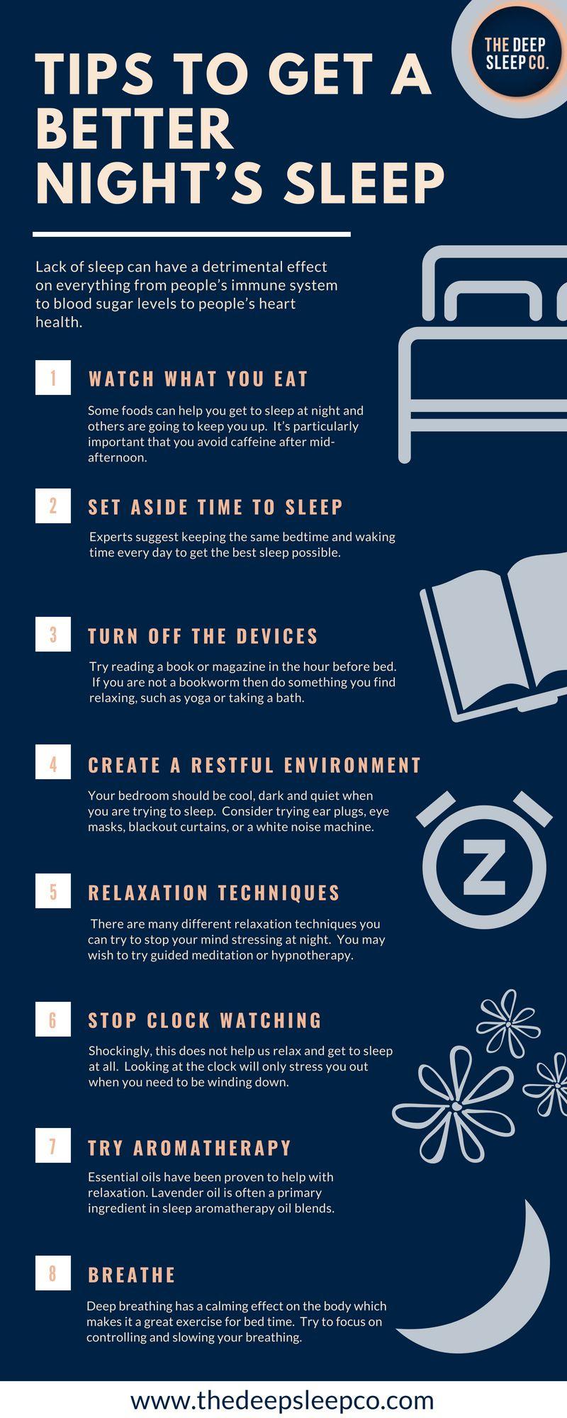 8 Tips To Get A Better Night S Sleep Sleeptips Insomnia