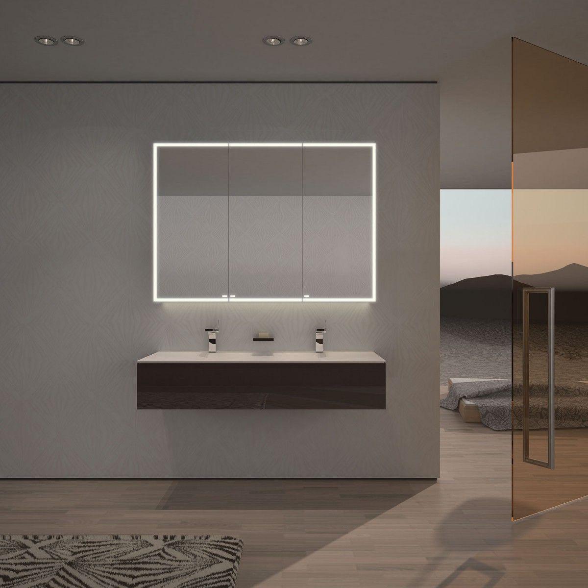 spiegelschrank nach ma mit led credo badezimmer pinterest spiegelschrank led und badezimmer. Black Bedroom Furniture Sets. Home Design Ideas