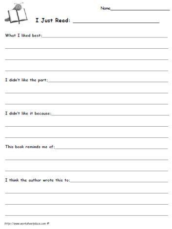 46++ Reading journal worksheets Popular