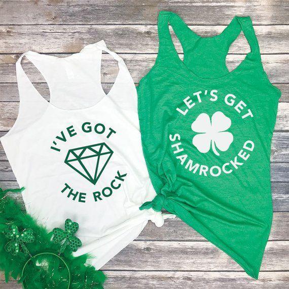 4e6b839b0 Irish Bachelorette - St Patricks Day Bachelorette Party - Funny Bride Tank  - Lets Get Shamrocked Tan