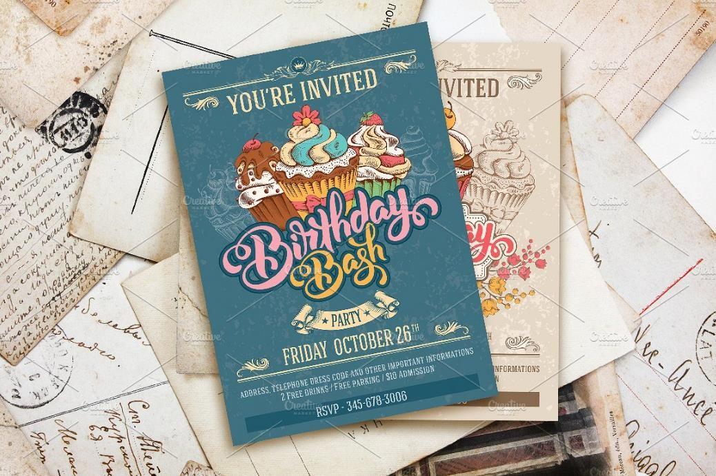 25+ Premium Birthday Party Invitation Templates – PSD,Indesign,Word ...
