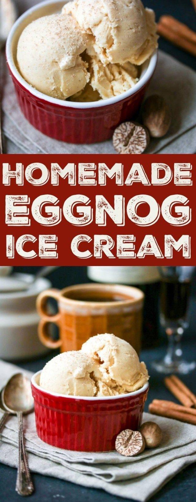 Eggnog Ice Cream - The Wanderlust Kitchen #cheesecakeicecream