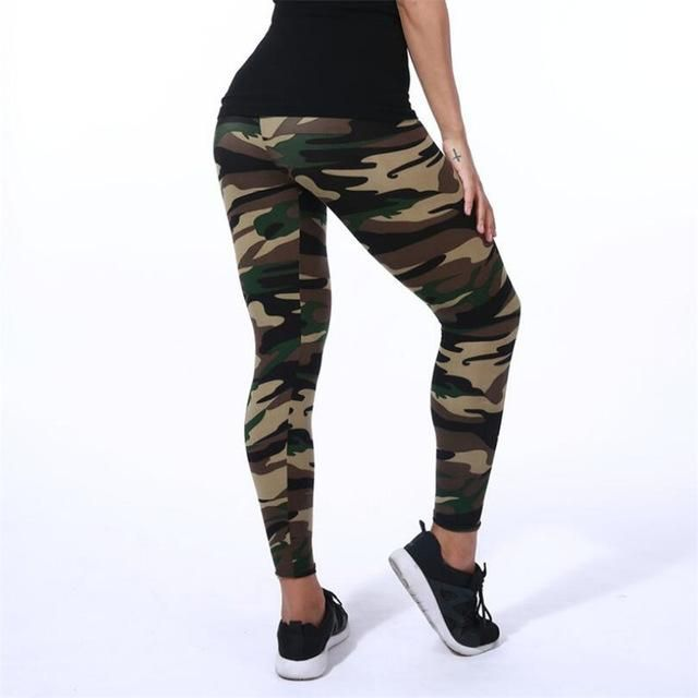 5768592139acd Colorful camo. Get one in each color and never search for matching leggings  again! Material: Spandex,Polyester Waist Type: High Length: Ankle-Length  Fabric ...