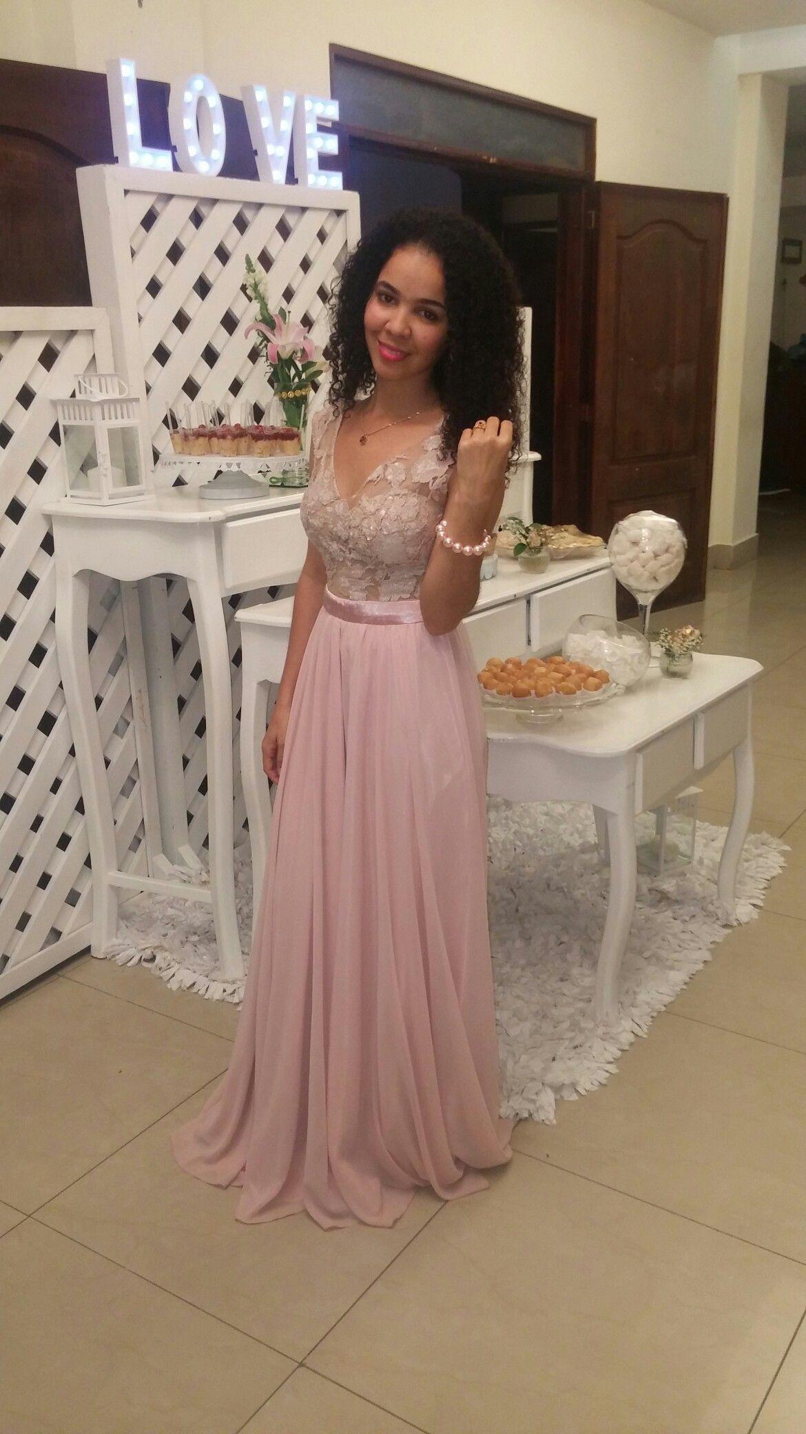 Vestido Rosa Viejo En 2019 Vestidos De Fiesta Rosados