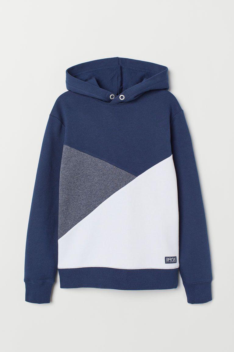 Hoodie Dark Blue Color Block Kids H M Us Hooded Sweatshirts Printed Hooded Sweatshirt Girl Sweatshirts [ 1152 x 768 Pixel ]