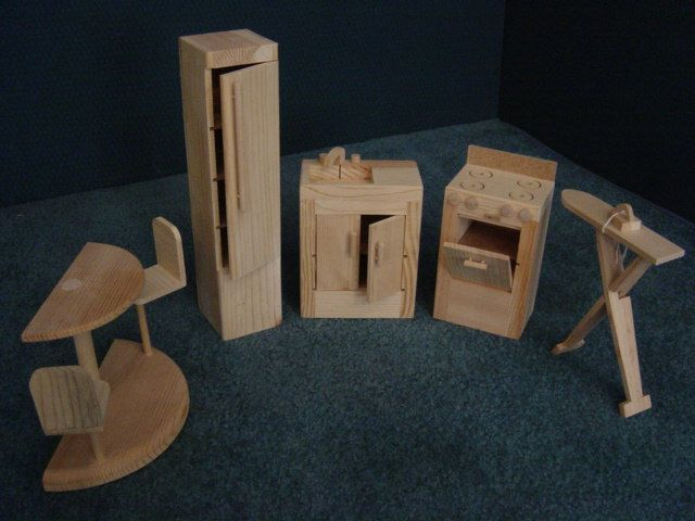 barbie wood furniture. Unfinished Barbie Furniture From Martin Doll House Collection Wood I