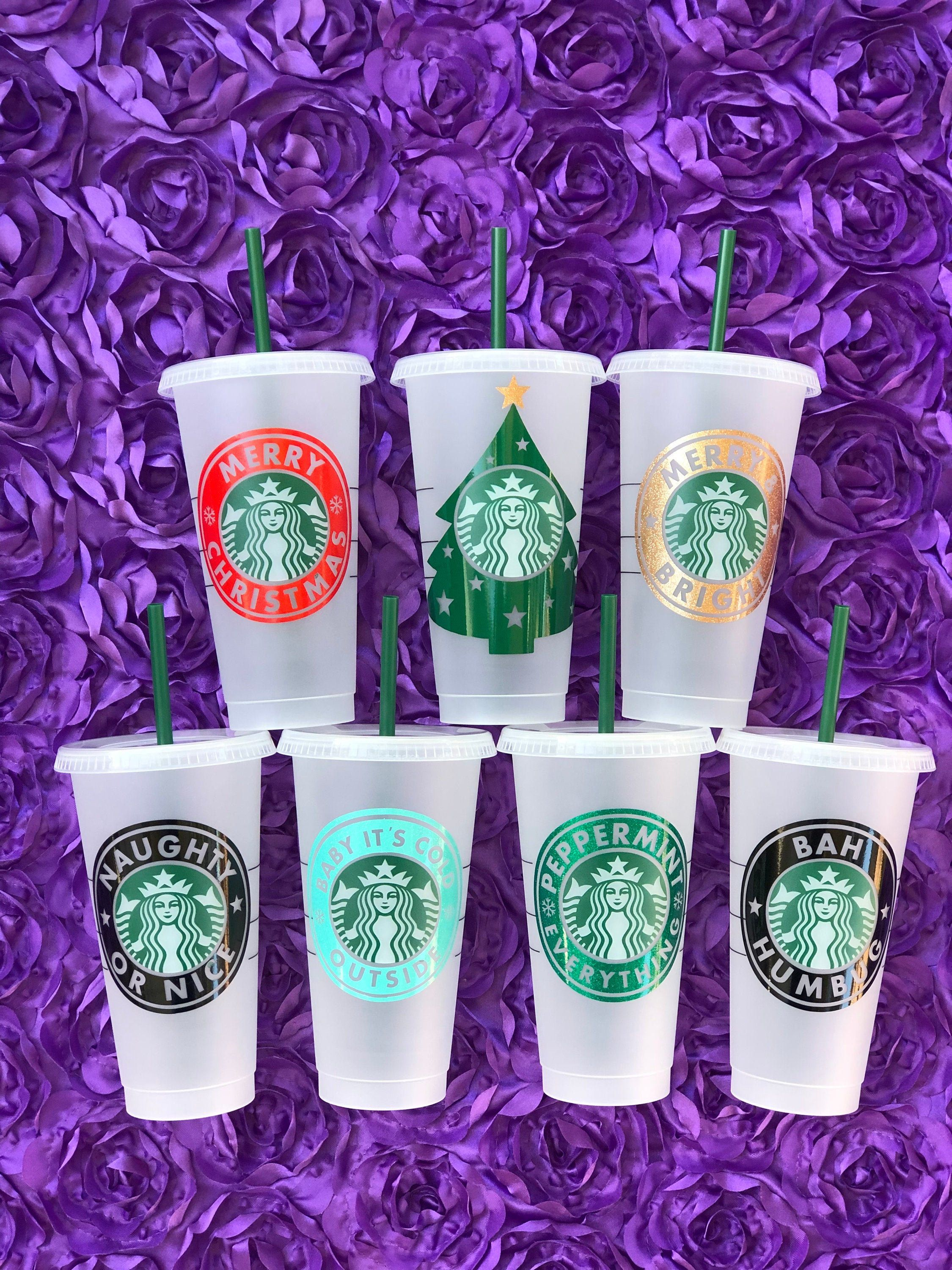 Christmas Starbucks Cold Cup Venti / Personalized Gift