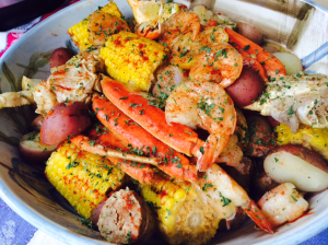 Seafood Boil with Instant Pot - Jumbo Shrimp, Crab Legs