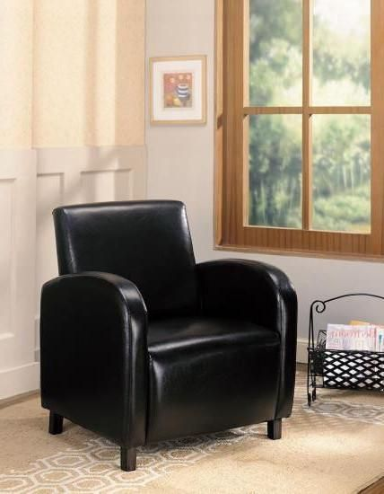 coaster vinyl upholstered accent chair