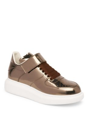 Alexander McQueen Ankle Strap Leather Platform Sneakers Gqe4fh8aZ