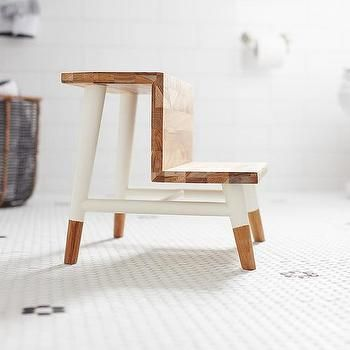 Astounding Kid Bathroom With Serena And Lily Teak Step Stool Uglugata Alphanode Cool Chair Designs And Ideas Alphanodeonline