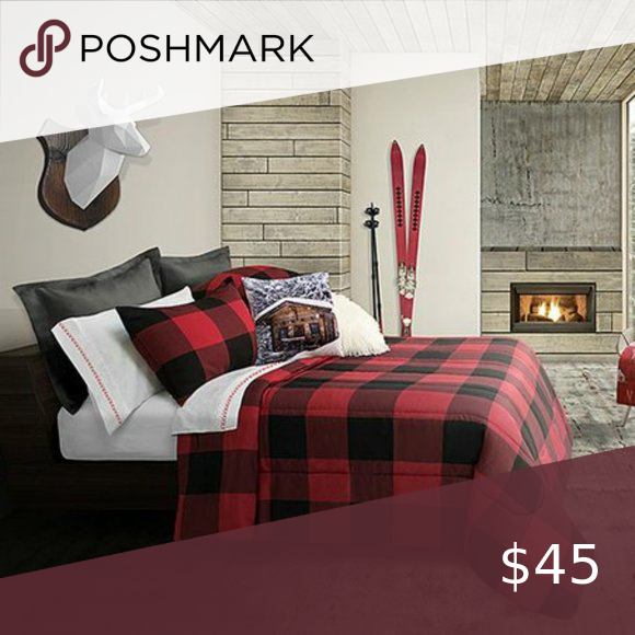 Photo of Buffalo Plaid King Comforter Set New in packaging. Set includes a comforter and …