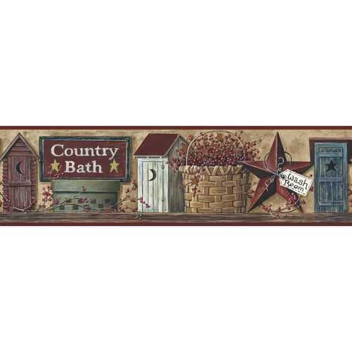 Bathroom Borders For Walls And Garden Country Bath Border Other Home Country Baths Wallpaper Borders For Bathrooms Primitive Wallpaper Bathroom wallpaper borders home depot